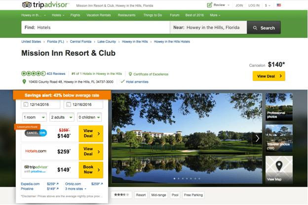 top travel sites TripAdvisor
