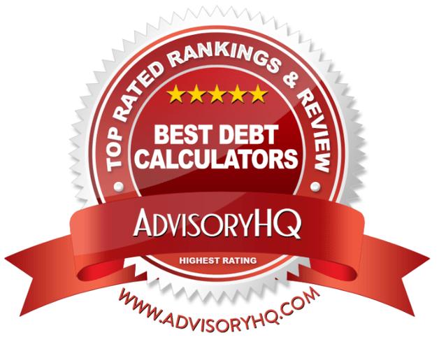 Best Debt Calculators Red Award Emblem