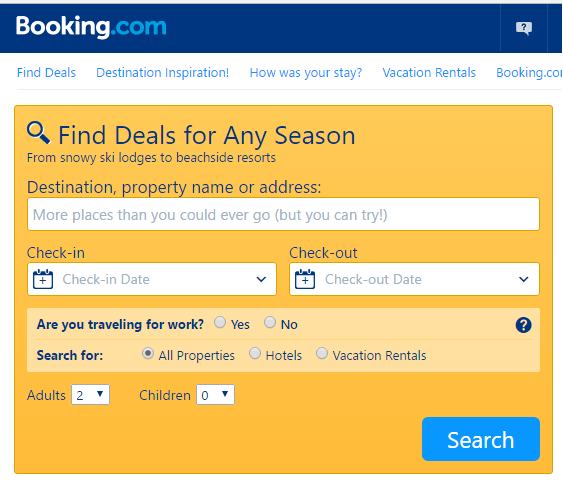 Booking.com - hotel booking sites