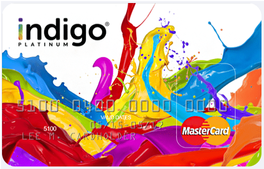 Indigo Platinum instant approval credit cards for bad credit