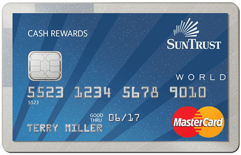 SunTrust best credit cards for cash rewards