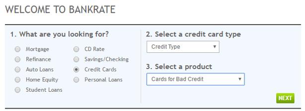 rebuilding credit cards