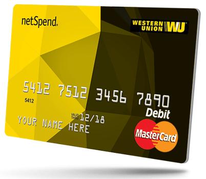 western union® netspend® prepaid mastercard®