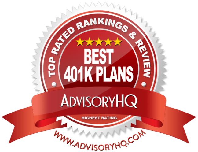 Red Award Emblem for Best 401k Plans