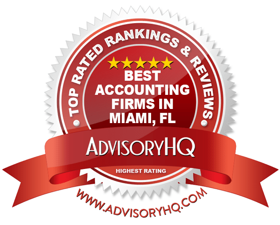 Best Accounting Firms in Miami, FL Red Award Emblem