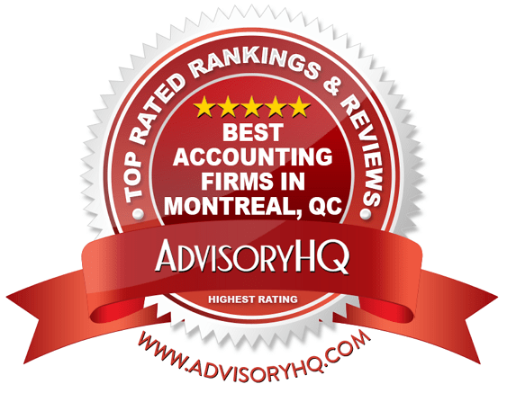 Best Accounting Firms in Montreal, QC Red Award Emblem