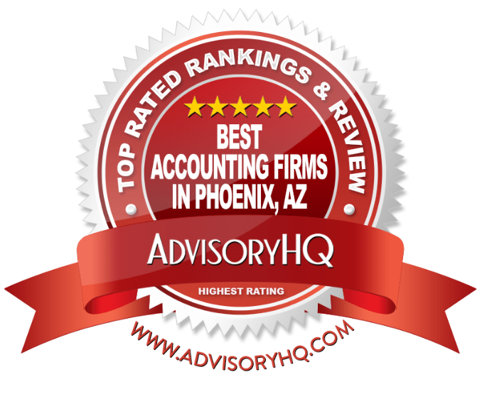 Best Accounting Firms in Phoenix, AZ Red Award Emblem