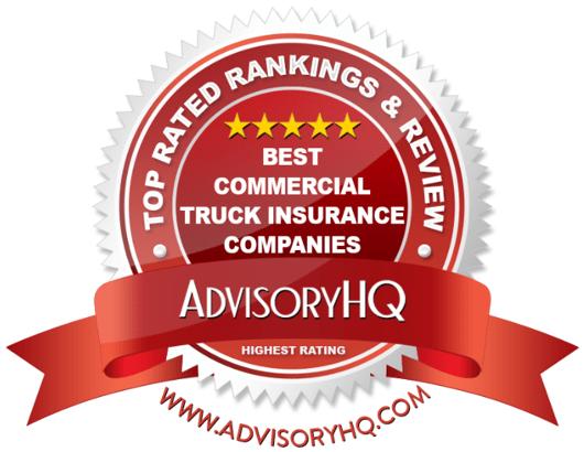 Best Commercial Truck Insurance Companies Red Award Emblem