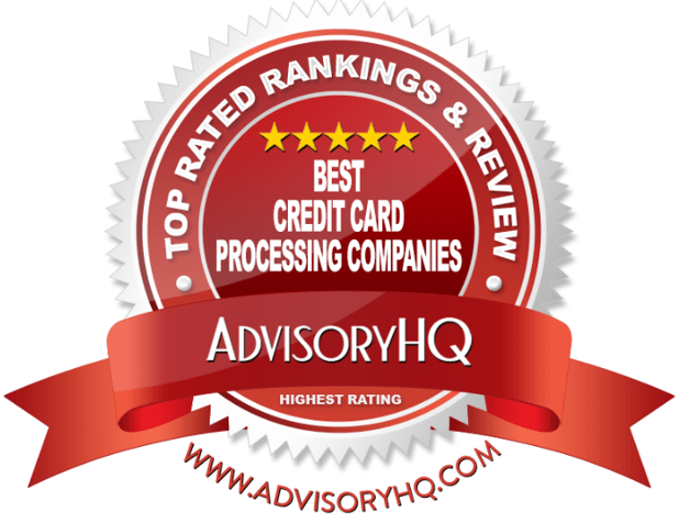 Best Credit Card Processing Companies Red Award Emblem