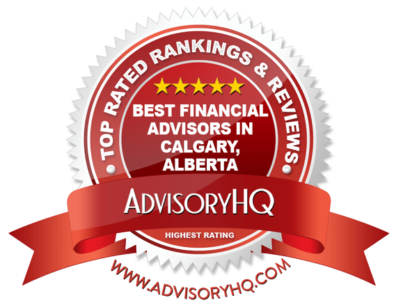 Best Financial Advisors in Calgary, Alberta Red Award Emblem