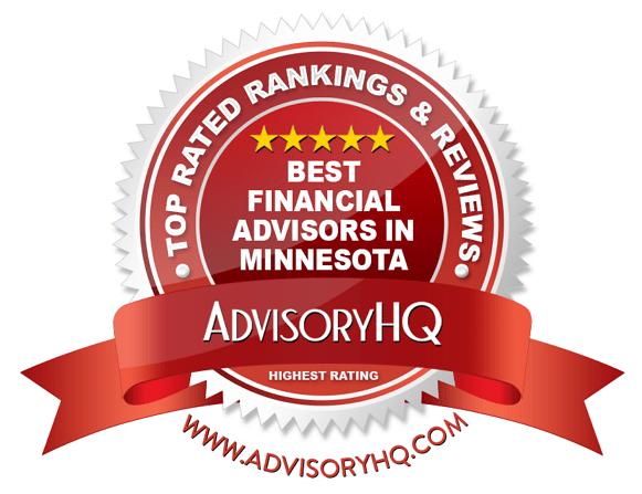 Best Financial Advisors in Minnesota Red Award Emblem