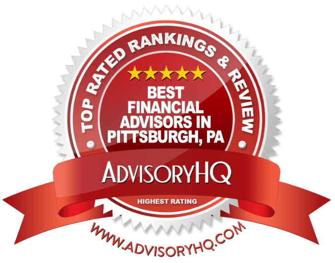 Best Financial Advisors in Pittsburgh, PA Red Award Emblem