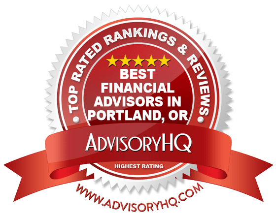 Best Financial Advisors in Portland, OR Red Award Emblem