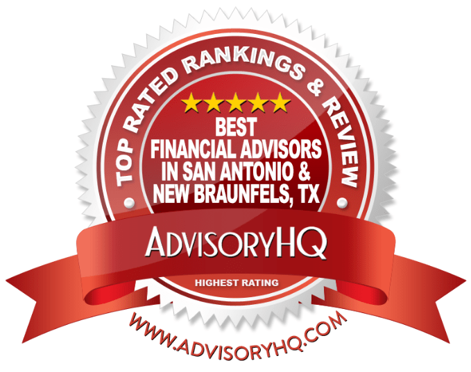 Red Award Emblem for Best Financial Advisors in San Antonio & New Braunfels, TX
