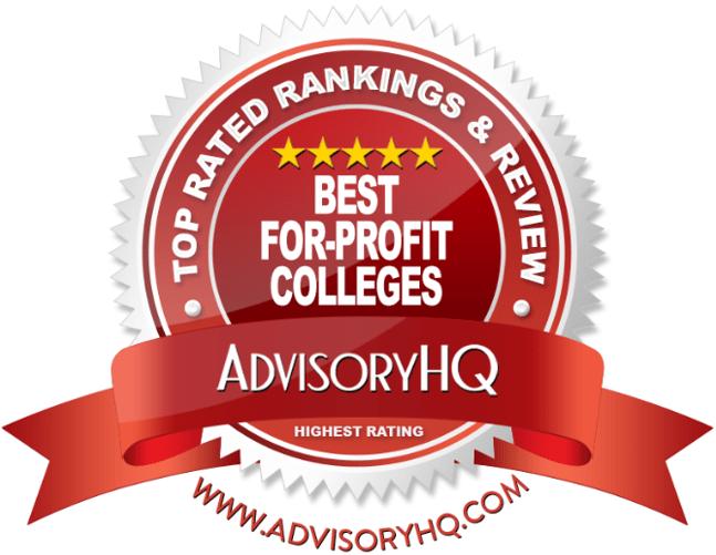 Best For-Profit Colleges Red Award Emblem