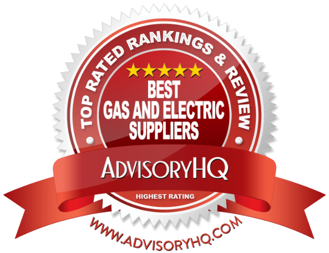 Best Gas And Electric Suppliers Red Award Emblem