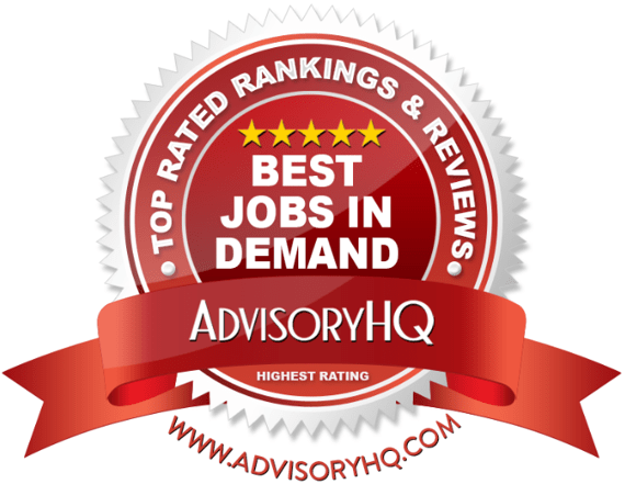 Best Jobs In Demand Red Award Emblem