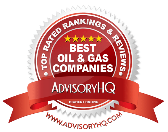 Best Oil & Gas Companies Red Award Emblem