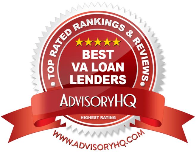 Best VA Loan Lenders Red Award Emblem