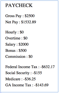 ga paycheck tax calculator