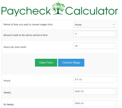 hourly wage calculator florida
