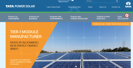 Top Solar Companies in India like Tata Power Solar Systems