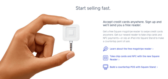 Square Chip Card Reader - free credit card reader