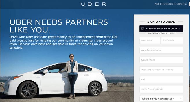 Uber Becoming Self Employed