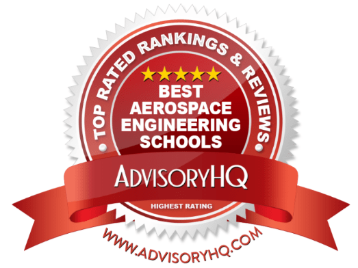 Red Award Emblem for Best Aerospace Engineering Schools