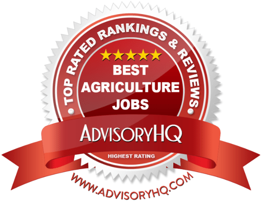 Red Award Emblem for Best Agriculture Jobs
