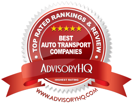 Red Award Emblem for Best Auto Transport Companies