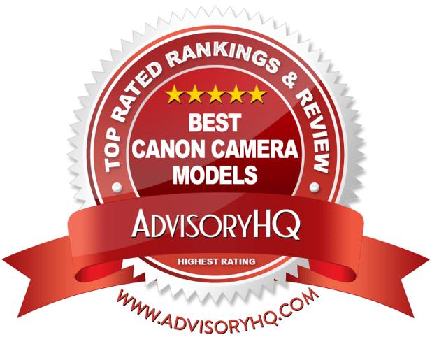 Best Canon Camera Models Red Award Emblem