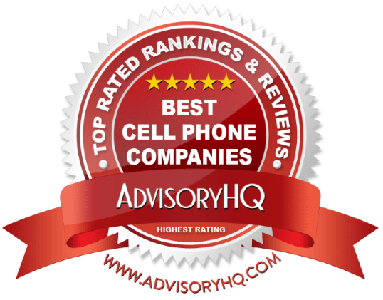 Best Cell Phone Companies Red Award Emblem