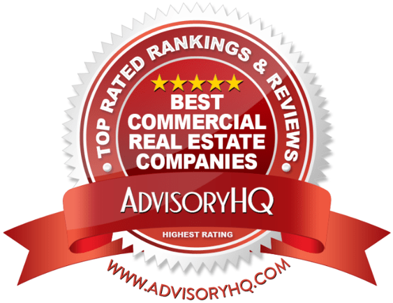 Best Commercial Real Estate Companies Red Award Emblem