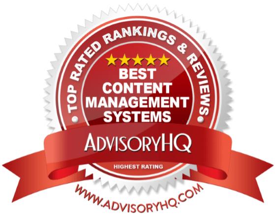 Best Content Management Systems Red Award Emblem
