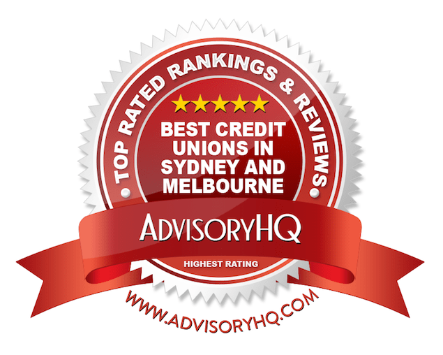 Best Credit Unions in Sydney and Melbourne Red Award Emblem