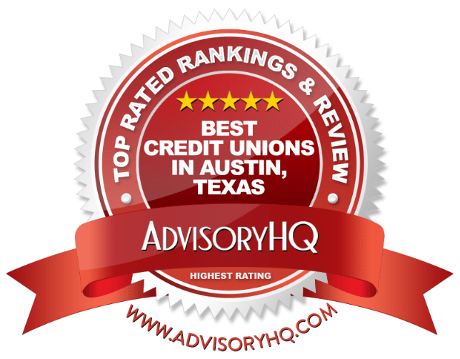 Best Credit Unions in Austin, Texas Red Award Emblem