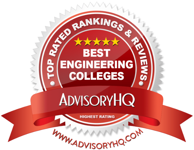 Best Engineering Colleges Red Award Emblem