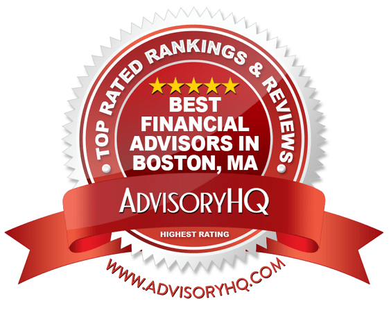 Best Financial Advisors in Boston Red Award Emblem