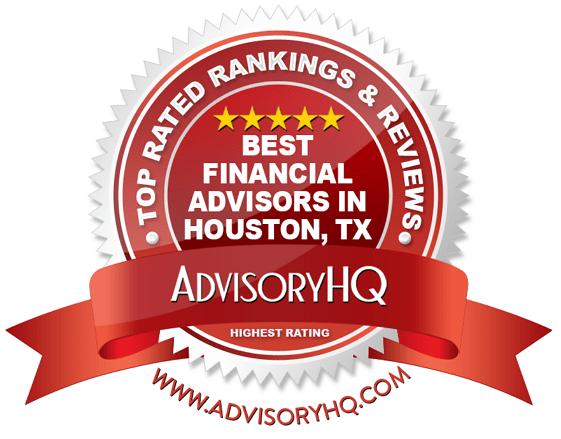 best financial advisors in houston, tx red award emblem