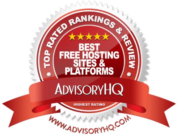 Best Free Hosting Sites & Platforms Red Award Emblem