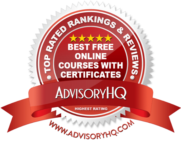 Best Free Online Courses WIth Certificates Red Award Emblem