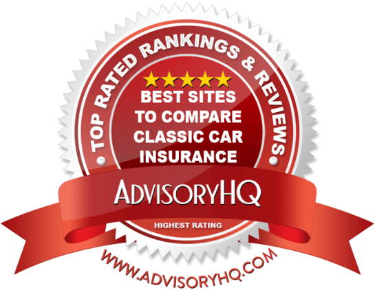 Best Sites To Compare Classic Car Insurance Red Award Emblem