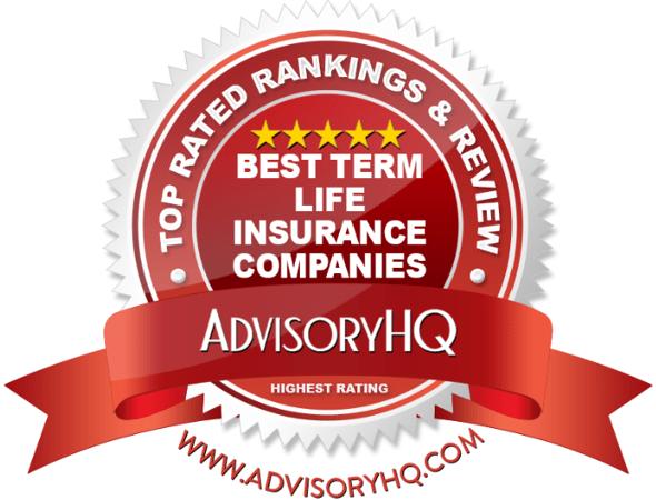 Best Term Life Insurance Companies Red Award Emblem