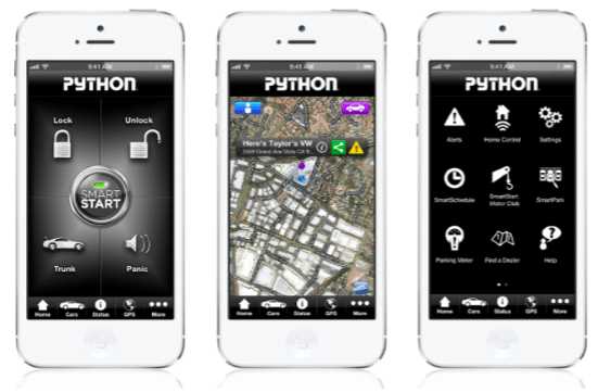 Python SmartStart car alarm