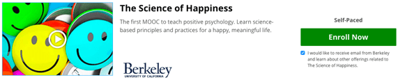 EdX's The Science of Happiness - free online courses with certificate of completion
