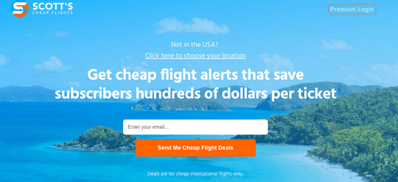 Lowest Airfare on Scott's Cheap Flights