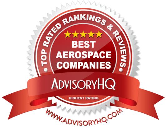 Red Award Emblem for Best Aerospace Companies