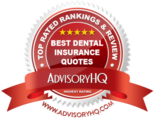 Best Dental Insurance Quotes Red Award Emblem