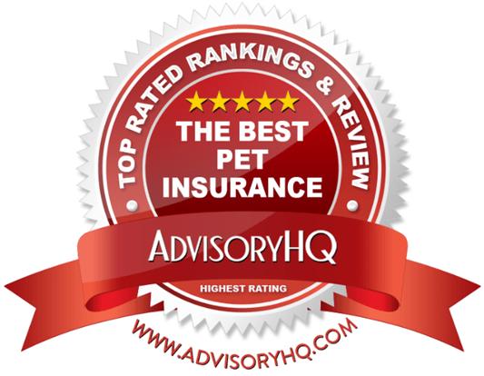 The Best Pet Insurance Red Award Emblem